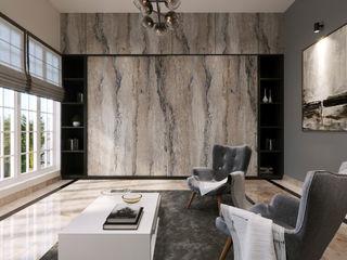 De Panache Modern Living Room Stone Multicolored