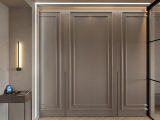 De Panache Modern Corridor, Hallway and Staircase Plywood Beige
