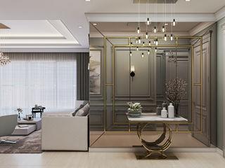 De Panache Modern Living Room Glass Beige