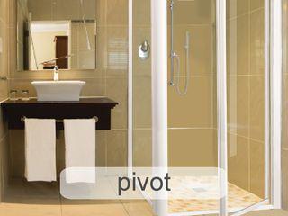 Aluminium Shower Door Types - Which One Fits Best? Origin Aluminium (Pty) Ltd Modern bathroom Aluminium/Zinc White