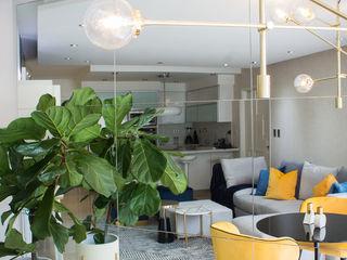 Arq Renny Molina Moderne Wohnzimmer Gelb