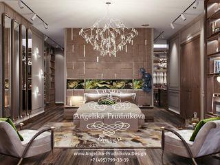 Дизайн-проект интерьера спальни в стиле ар-деко в элитном загородном доме Дизайн-студия элитных интерьеров Анжелики Прудниковой Спальня в классическом стиле