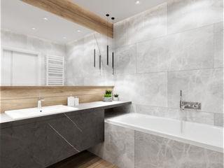 Wkwadrat Architekt Wnętrz Toruń Modern bathroom Tiles Black