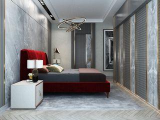 Inan AYDOGAN /IA Interior Design Office モダンスタイルの寝室 木材・プラスチック複合ボード 木目調