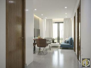 Thiết kế nội thất chung cư 70m2 Công ty TNHH Tư vấn thiết kế xây dựng An Khoa