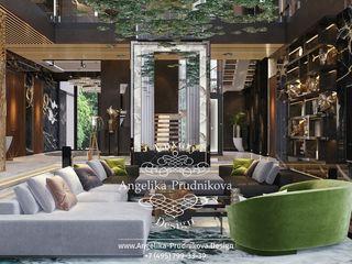Дизайн-проект интерьера загородной виллы в стиле ар-деко Дизайн-студия элитных интерьеров Анжелики Прудниковой Гостиная в классическом стиле