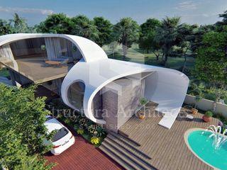 Structura Architects Casas unifamilares Hormigón Blanco
