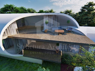 Structura Architects Casas de estilo moderno Hormigón Blanco
