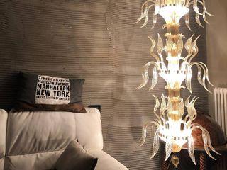 MT ILLUMINAZIONE SRL Living roomLighting Glass Amber/Gold