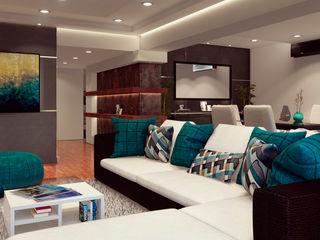 Remodelación de apartamento Vida Arquitectura Salas de estilo moderno Madera Gris