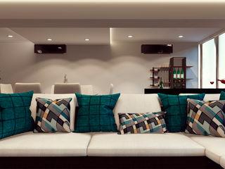 Remodelación de apartamento Vida Arquitectura Sala multimediaMobiliario Textil Turquesa