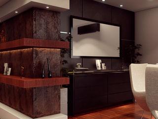 Remodelación de apartamento Vida Arquitectura Vestíbulos, pasillos y escalerasCómodas y estanterías Porcelana Marrón