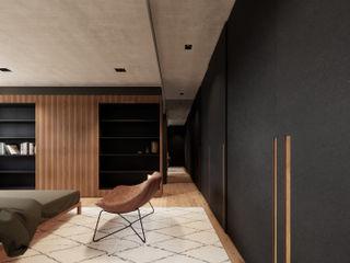 Saulo Magno Arquiteto Minimalist bedroom Black