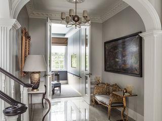 Carlton Hill: North West London Roselind Wilson Design Classic corridor, hallway & stairs