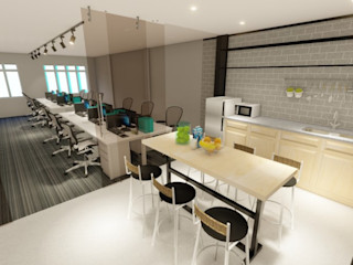 LI A'ALAF ARCHITECT Estudios y despachos de estilo minimalista