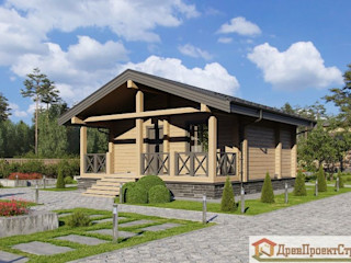 ПСК Древпроектстрой Small houses Wood Wood effect