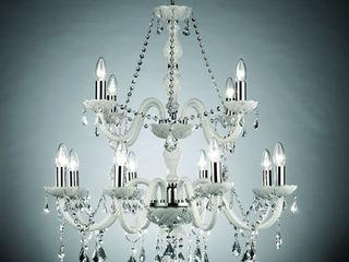 LAMPADARI IN STILE CONTEMPORANEO MT ILLUMINAZIONE SRL Sala da pranzoIlluminazione Bianco