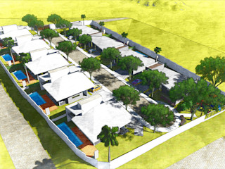 Condomínio de Casas Moderno - Vale do Paraíba ARUS Associados Ltda. Condomínios Multi colorido
