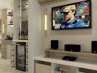 Laene Carvalho Arquitetura e Interiores 现代客厅設計點子、靈感 & 圖片