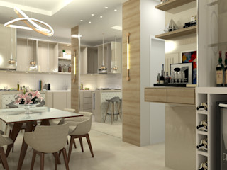 Laene Carvalho Arquitetura e Interiores 餐廳