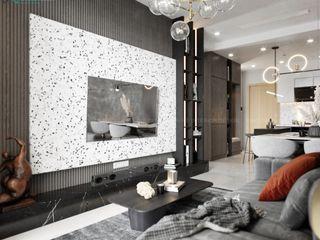 MẪU NỘI THẤT CĂN HỘ EMERALD CELADON CITY 71M2 - 2PN (TYPE D1) Công ty Cổ Phần Nội Thất Mạnh Hệ Phòng khách