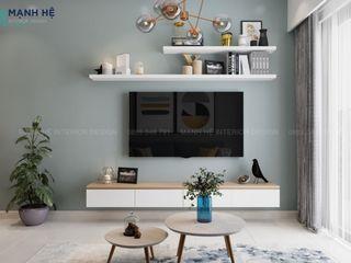 MẪU NỘI THẤT CĂN HỘ EMERALD CELADON CITY 63M2 - 2PN (TYPE E1) Công ty Cổ Phần Nội Thất Mạnh Hệ Phòng khách