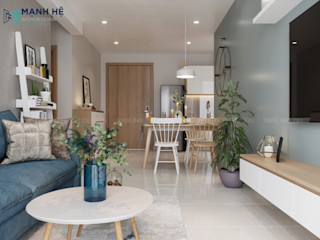 MẪU NỘI THẤT CĂN HỘ EMERALD CELADON CITY 63M2 - 2PN (TYPE E1) Công ty Cổ Phần Nội Thất Mạnh Hệ Nhà bếp phong cách hiện đại
