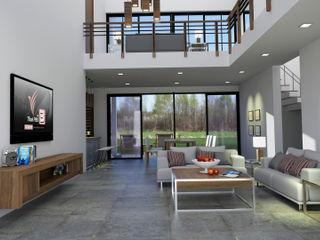 Pilaster Studio Design Eclectic style living room