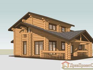 ПСК Древпроектстрой Scandinavian style houses Wood Wood effect