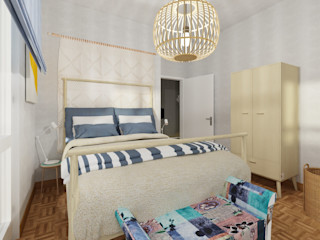 Arch. Sara Pizzo - Studio 1881 Kleines Schlafzimmer Blau
