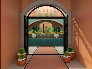 CONCEPTO JORU Eclectic style hotels Bricks Orange