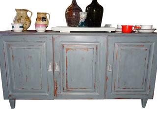 Anrichte 1980 Antik & Kunst Nermesan WohnzimmerSchränke und Sideboards Holzspanplatte Mehrfarbig