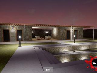 Rendering realtime architettura Agenzia Rendering 3D - W & E srl Casetta da giardino