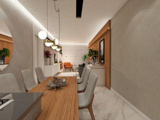 ZOMA Arquitetura Salas de jantar modernas