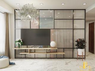 AN PHÚ DESIGN & BUILD SalasMuebles de televisión y dispositivos electrónicos