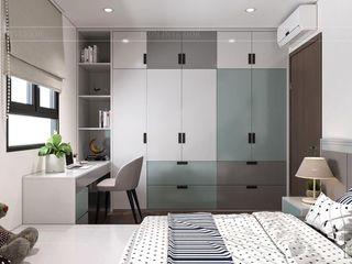 CityLand Park Hills - 2 Thiết kế nội thất ICONINTERIOR Phòng ngủ nhỏ
