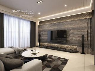 沉邃放鬆 微奢飯店風情-- 仁山洺悅 木博士團隊/動念室內設計制作 现代客厅設計點子、靈感 & 圖片