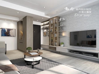 清新現代日光宅 恬適舒心 -- 仁山洺悅 木博士團隊/動念室內設計制作 現代風玄關、走廊與階梯