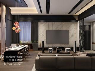華麗磅礡-劇院宅 木博士團隊/動念室內設計制作 现代客厅設計點子、靈感 & 圖片