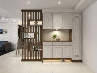 愜意生活–-喬立圓容 木博士團隊/動念室內設計制作 現代風玄關、走廊與階梯