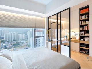 One Kai Tak, Hong Kong Darren Design & Associates 戴倫設計 Modern style bedroom Iron/Steel White