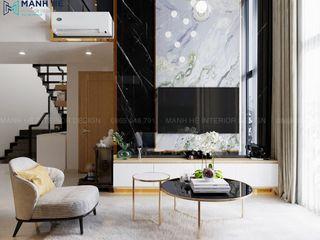 MẪU NỘI THẤT CĂN HỘ EMERALD CELADON CITY 130M2 - 3PN (TYPE D3-DP) Công ty Cổ Phần Nội Thất Mạnh Hệ Phòng khách