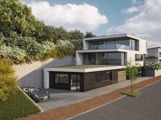 Villa am Sandbuckel Peter Stasek Architects - Corporate Architecture Villa Beton Grau