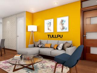 Tullpu Diseño & Arquitectura Ruang Keluarga Modern Yellow