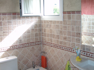 Reforma Baños y aseos ESTUDIO FRANCIA INTERIORISMO Baños de estilo rústico Beige
