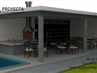 PROYECTA Grupo Constructivo Modern balcony, veranda & terrace Reinforced concrete Grey