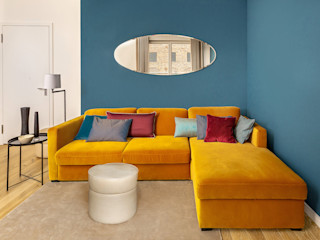 CONSCIOUS DESIGN - INTERIORS 现代客厅設計點子、靈感 & 圖片 木頭 Orange
