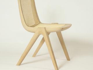 Ein Stuhl aus Massivholz und Wiener Geflecht Holzarbeiten André Findeisen Skandinavische Küchen Massivholz