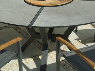 ZEBRA Tisch Helix ZEBRA GartenMöbel Aluminium/Zink Grau