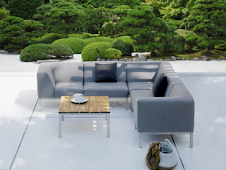 ZEBRA Bellevue Lounge ZEBRA GartenMöbel Textil Grau